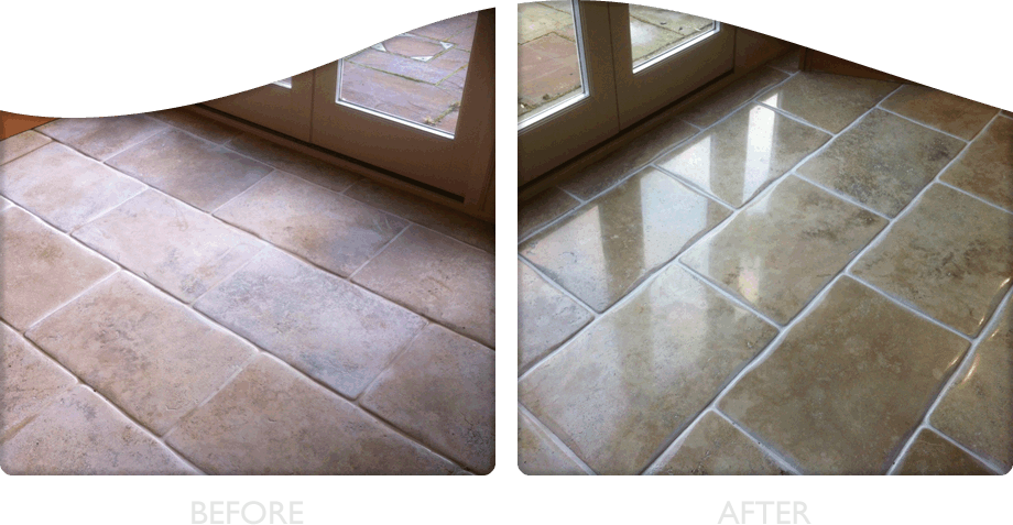 Natural Stone Floor Cleaning   West & North Yorkshire   Cleaned & Sealed